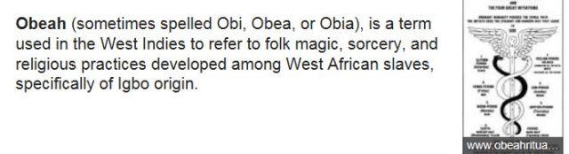 Obeah description from Wiki